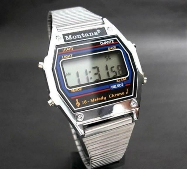 Стиль 90-х: часы Монтана - лектронные часы.