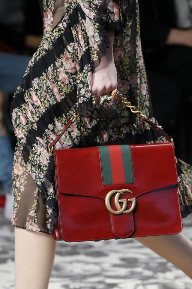 Модные сумки весна – лето 2016 - сумка из коллекции Gucci.