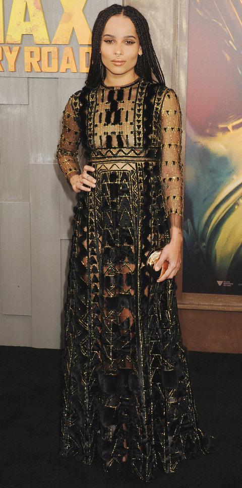 Стиль Зои Кравиц-яркое красивое платье.