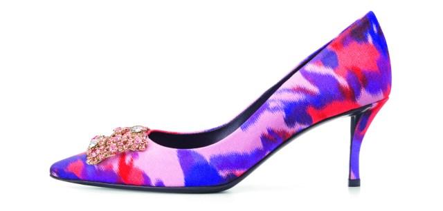 Новые тренды «акварельные» туфли лодочки из коллекции Roger Vivier.