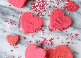 Печенье в виде сердца. Простой рецепт красивого признания в любви.