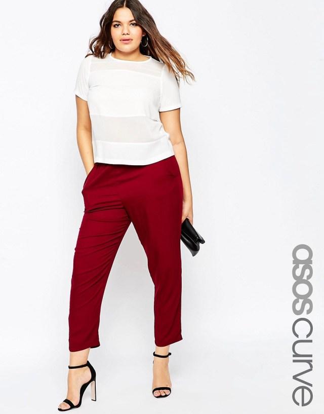 Мода для полных весна-лето 2016 - укороченные брюки.