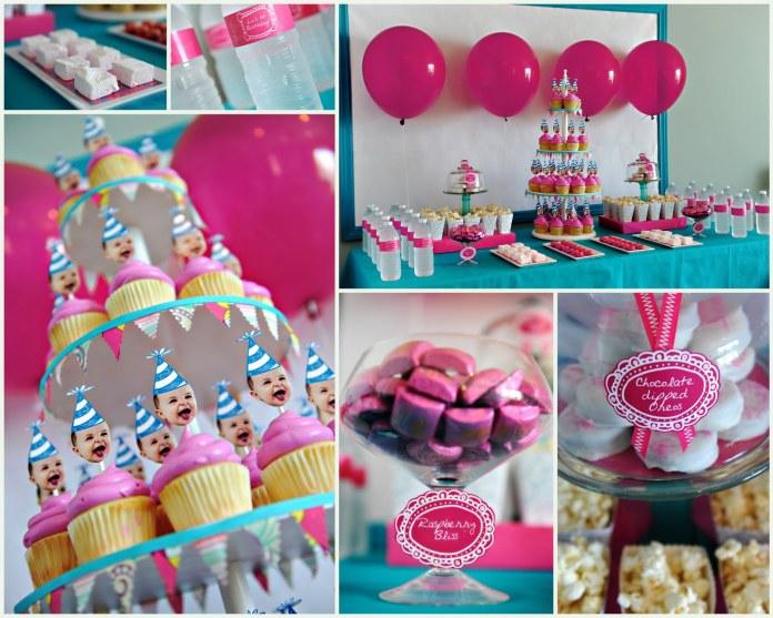 На фото: празднование детского дня рождения в кафе.