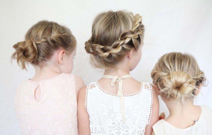 На фото: плетеная прическа для девочек на каждый день.