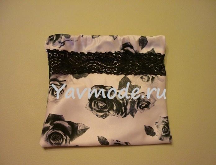 На фото: как сделать текстильные подарочные сумочки из топа.