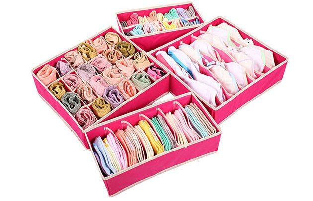 Компактные и практически невесомые коробки из ткани