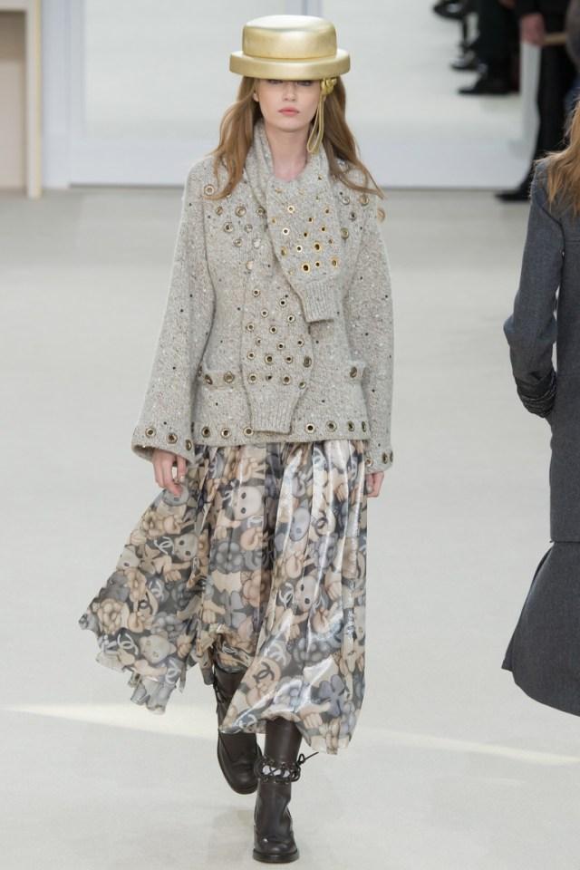 Свободная шифоновая модная юбка 2017 года из коллекции Chanel