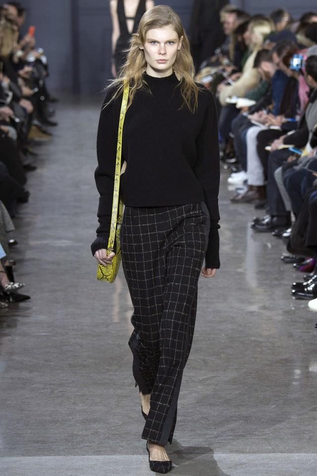 Женские брюки 2017 в клетку - фото новинки из коллекции Jason Wu