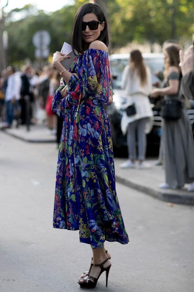 Фото: длинное модное платье