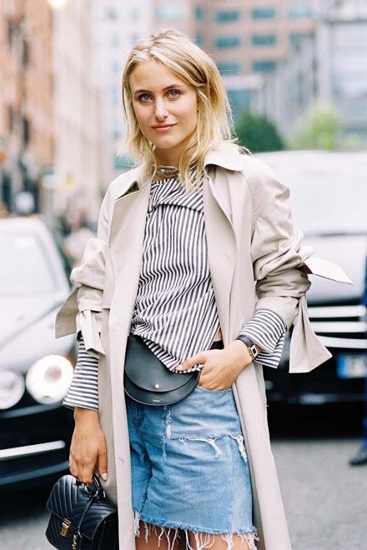 Джинсовые шорты с плащом - лук для влюбленных в жизнь