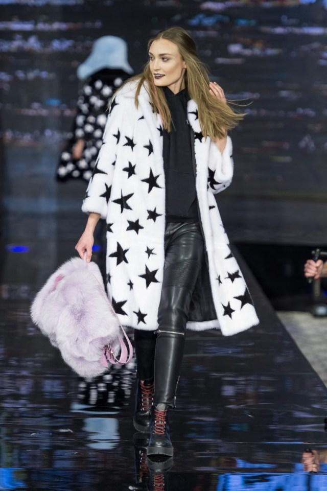 Модная шуба 2017 из искусственного меха из коллекции Меха-Екатерина.
