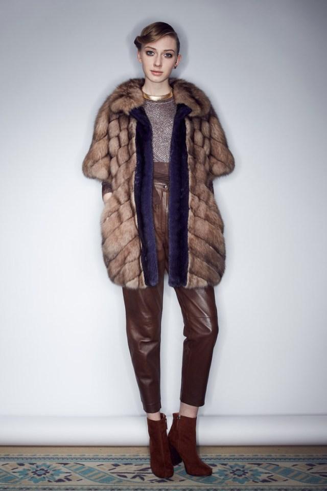 Модная эффектная шуба 2017 со слегка укороченными рукавами фото обзор коллекции Braschi.
