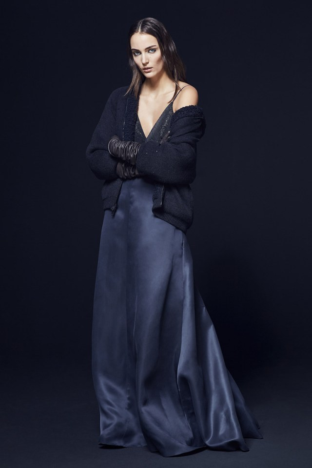 Черный укороченный модный кардиган 2017 фото обзор коллекции Brunello-Cucinelli.