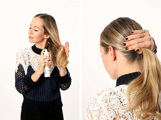 Гладкий пучок – прекрасная стильная причёска для торжественного случая.