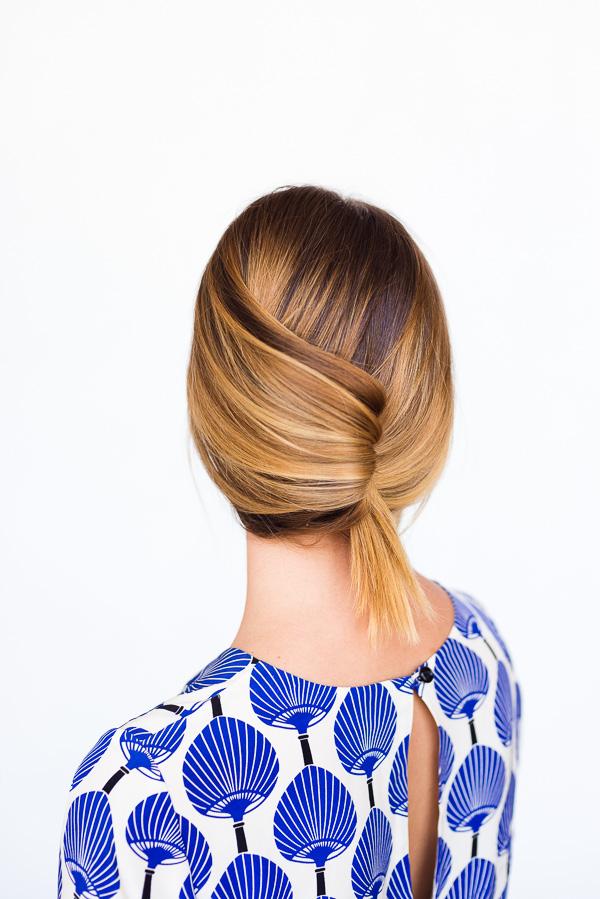 Оригинальная собранная причёска - фото мастер-класс