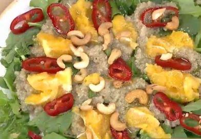 Kinoalı Roka Salatası yapımı