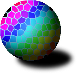 Stained glass ball (with horse manure inside?)