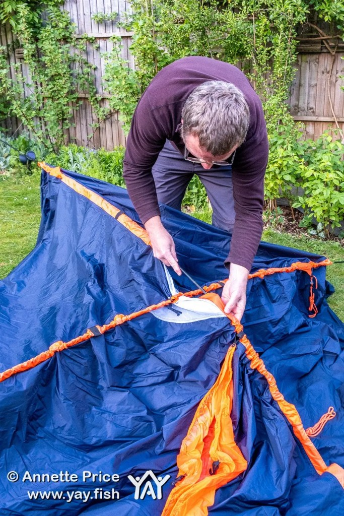 Garden Camping - pitching a tent