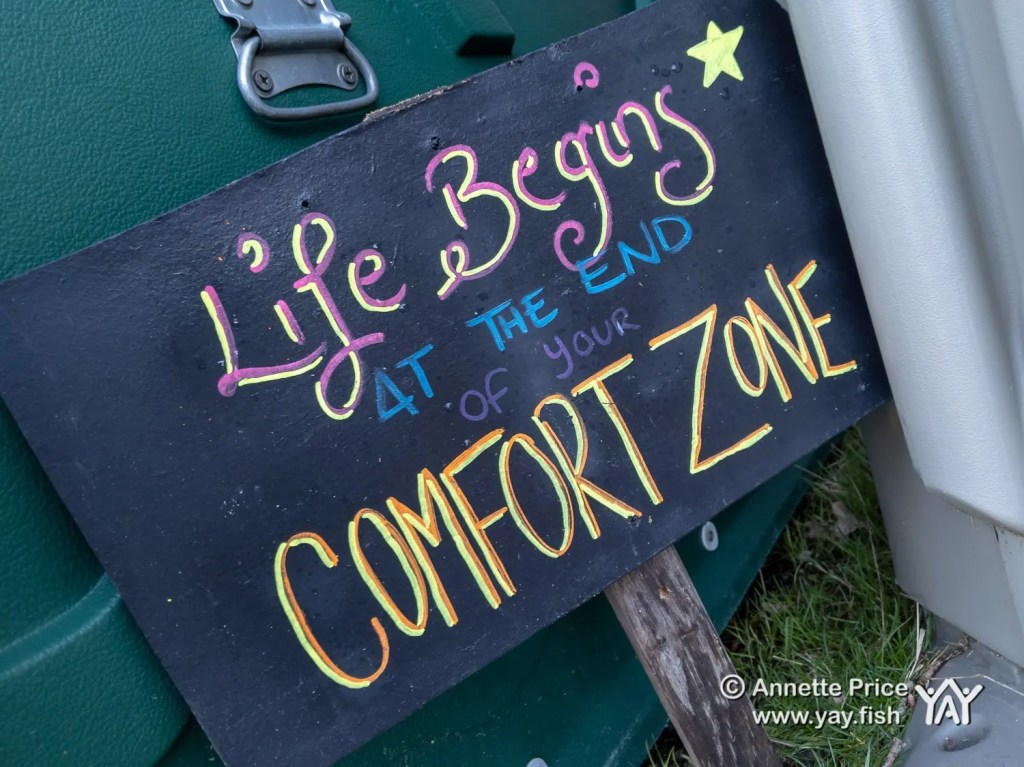 Life begins at the end of your comfort zone. Wild camping course at the Yes Bus. Part of Say Yes More. West Sussex, UK.