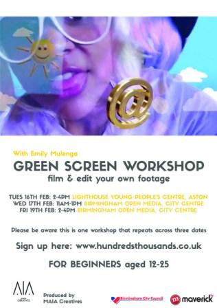 HT Green Screen Workshop E-Flyer