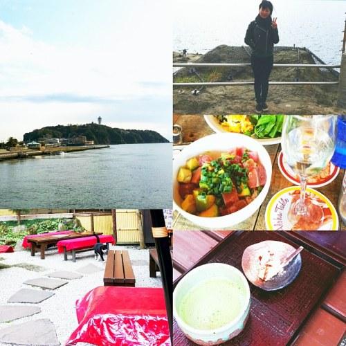 江ノ島観光の様子