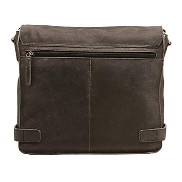 Ashwood – Antique Black Distressed Cow Vintage Leather Camden Messenger Bag