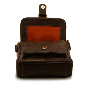 Rowallan – Small Brown Highlander Oiled Buffalo Leather Messenger Bag