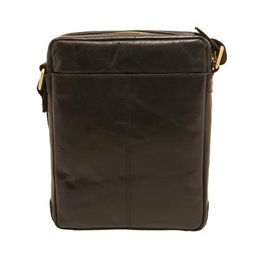 Underwood & Tanner – Black Leather Jake Shoreditch Messenger/Shoulder Bag