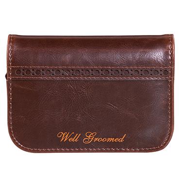 Ted Baker – 5 Piece Manicure Set in Walnut Brown Brogue Zip Around Case