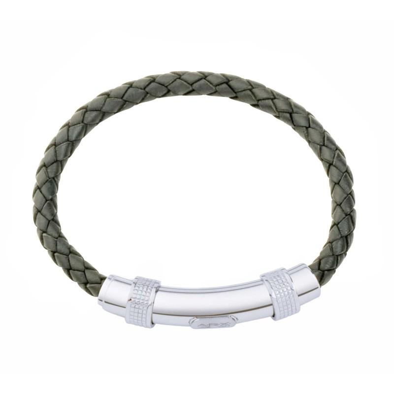 Jos Von Arx – Grey Leather Integrated Bracelet