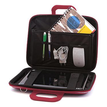 Bombata – Burgundy Red Medio Classic 13″ Laptop Case/Bag with Shoulder Strap