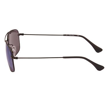Calvin Klein CK – Matt Black Classic Rectangular Sunglasses with Case