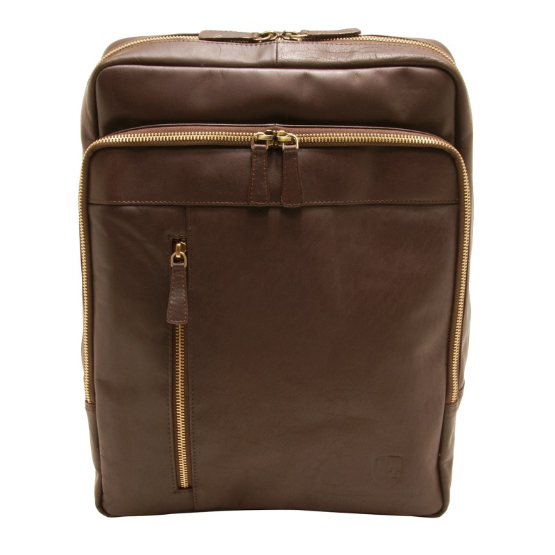 Underwood & Tanner – Brown Leather Josh Rucksack/Backpack from the Shoreditch Range