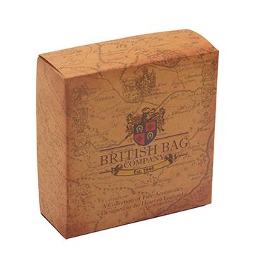 The British Bag Company – Stornoway Harris Tweed Cuff Link Box with Leather Trim