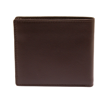 PellMell – Soft Brown Leather Classic Credit Card Wallet with Engraved Golfer Design