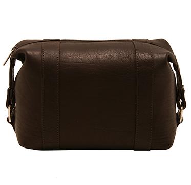 Ashwood – Brown Wash Bag in Buffalo Smooth Leather