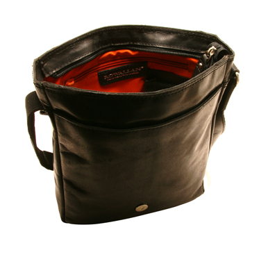 Rowallan – Black North/South Pittsburgh Messenger Bag in Oil Tanned Buffalo Leather