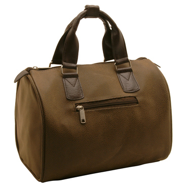 Home Works – Small Brown Holdall in Mock Nubuck