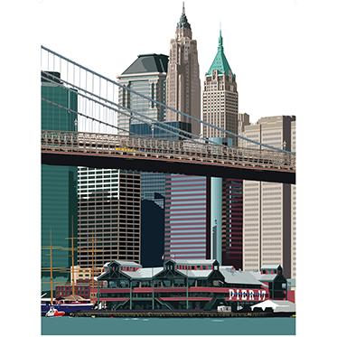 Leslie Gerry – New York Pier 17 Cushion