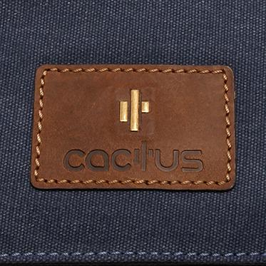 Cactus – Medium Cross Body Messenger Bag in Denim Blue Canvas