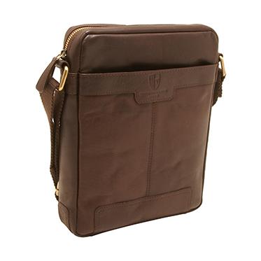 Underwood & Tanner – Brown Leather Jake Shoreditch Messenger/Shoulder Bag