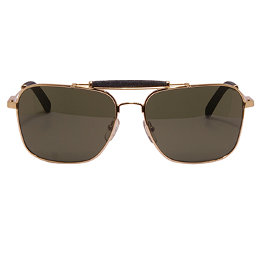 Calvin Klein Jeans CKJ – Gold Aviator Style Sunglasses with Blue Denim Trim