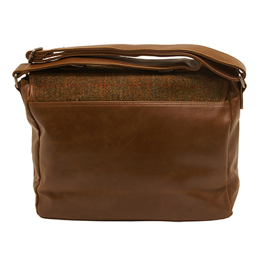 The British Bag Company – Stornoway Harris Tweed Briefcase Messenger Bag