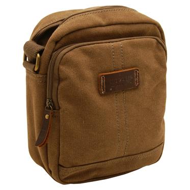 Troop London – Brown Heritage Messenger/Across Body Bag in Canvas-Leather