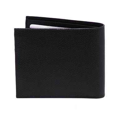 Hansson – Blue Italian Leather Billfold Wallet with Coin Purse