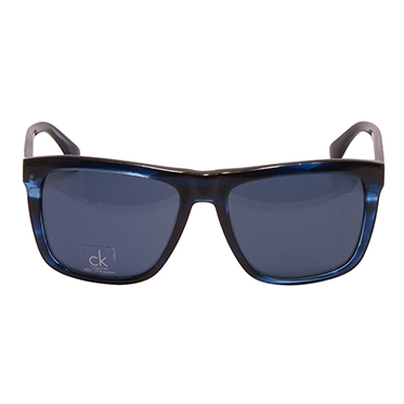 Calvin Klein CK – Blue Marble Classic Rectangular Sunglasses with Case