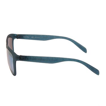 Calvin Klein CK – Petrol Green Classic Rectangular Sunglasses with Case
