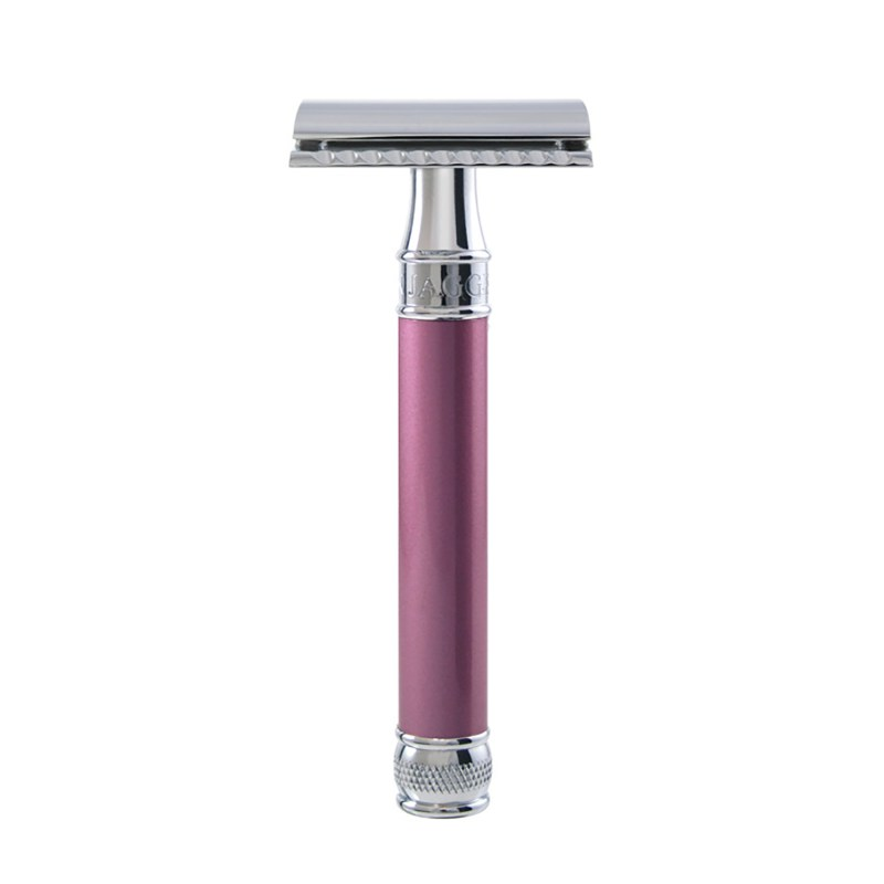 Edwin Jagger – Pink Rose Pearl Effect DE Safety Razor in Gift Box