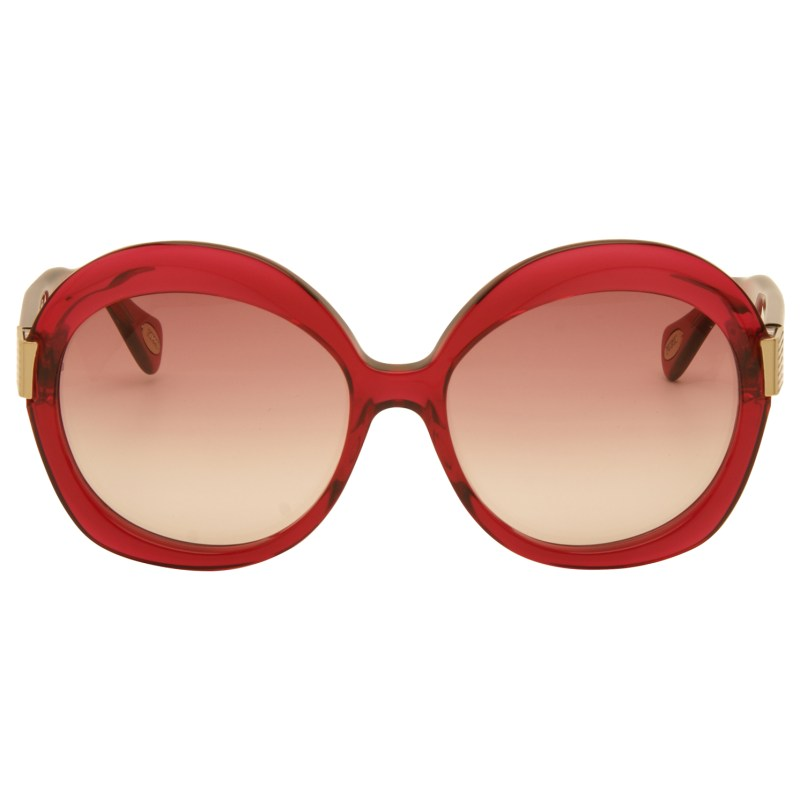 Emilio Pucci – Pink Cyclamen Oversized Style Sunglasses with Case