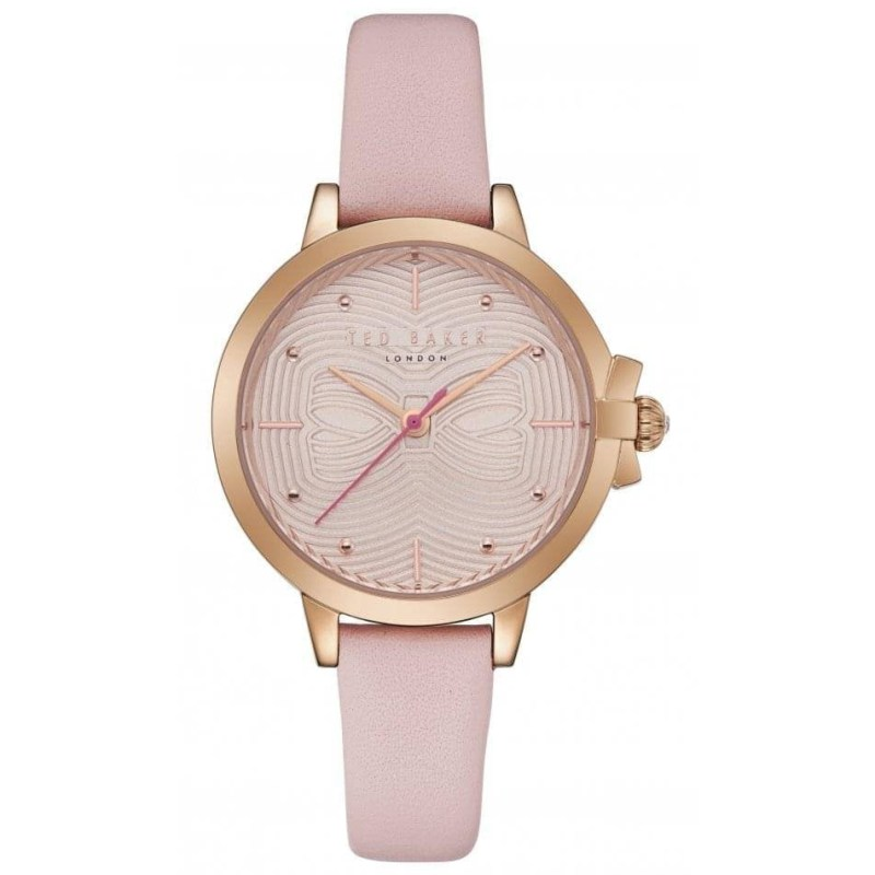 Ted Baker – BETH Pink Leather Strap Watch in Presentation Gift Box